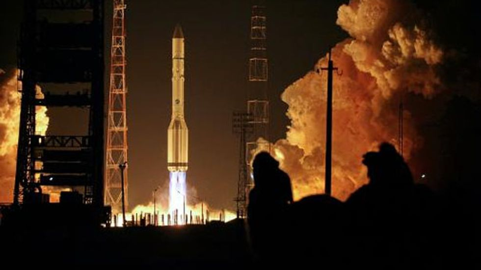 Russian Proton rocket falls back to Earth after engine failure