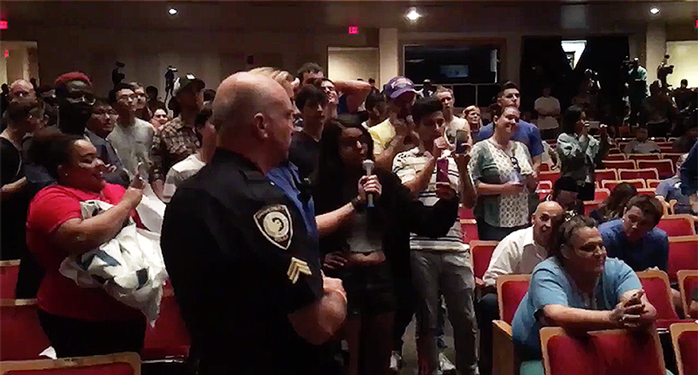 Crowd goes wild when student asks Richard Spencer how it felt to get punched in the face