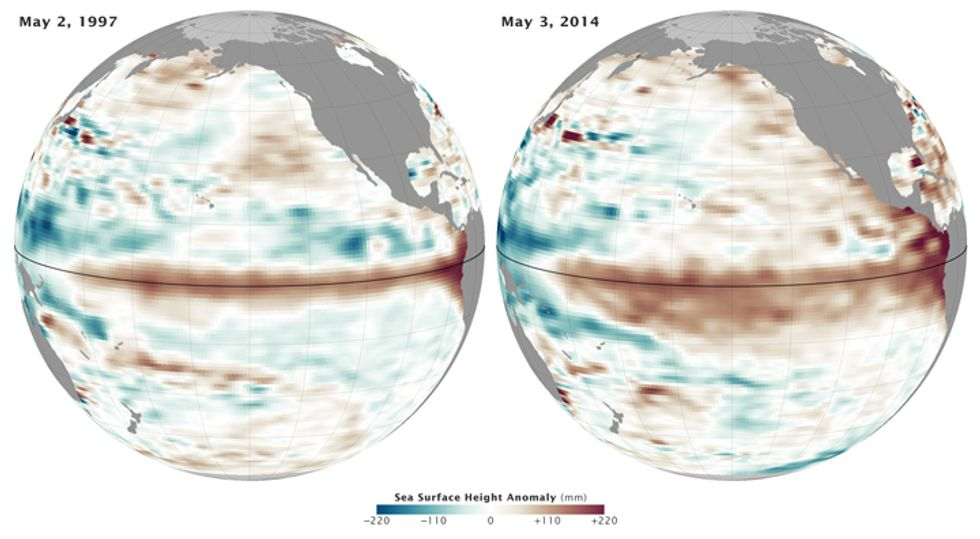 This image provides an unmistakable view of the El Niño conditions being formed