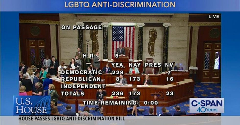 WATCH: History in the making as US House passes LGBT Equality Act