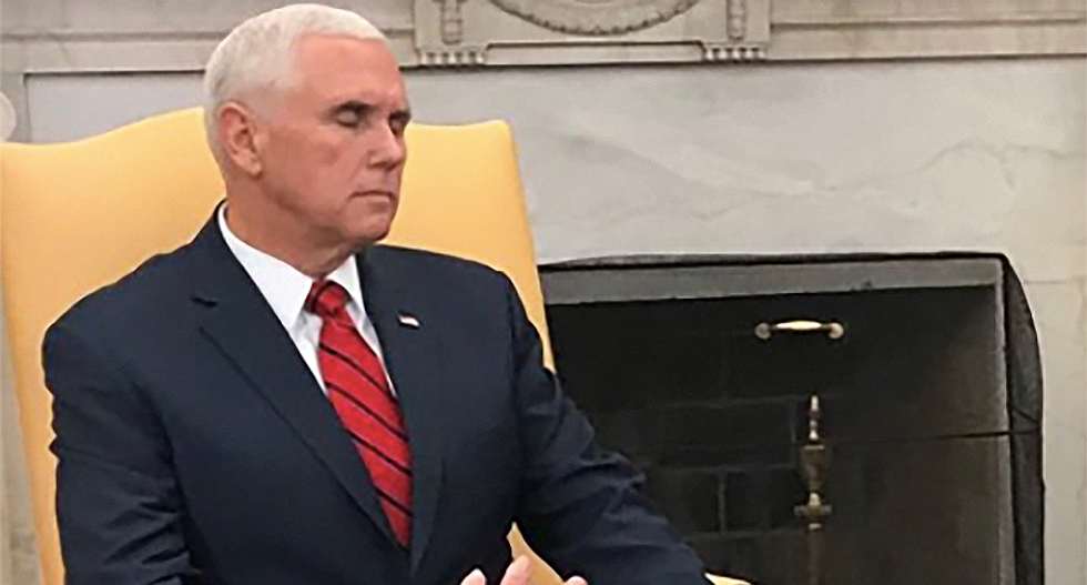 'If a Pence falls in the woods does it make a sound': America ridicules 'flat Mike' for barely moving during Oval Office meeting