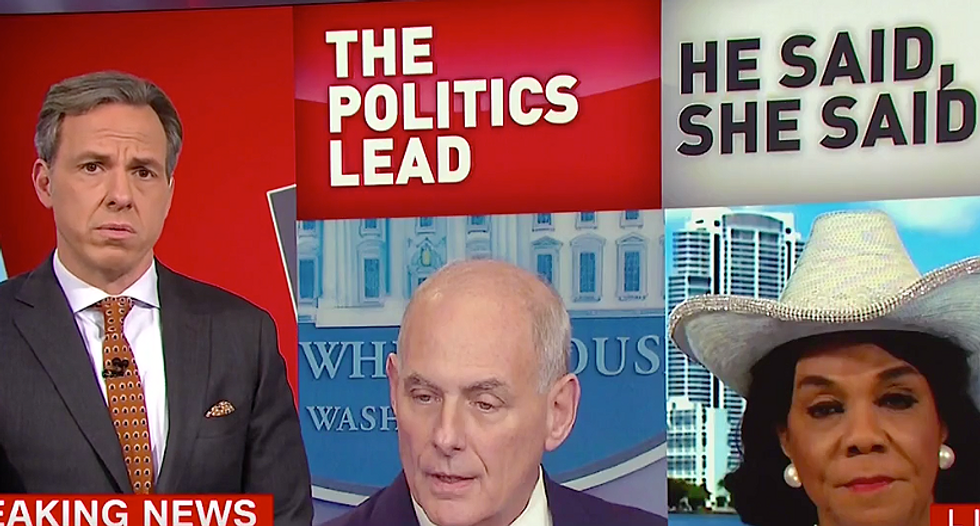 WATCH: Jake Tapper uses Trump's own tweets to disprove Sanders' 'shocking' claim press can't criticize Kelly