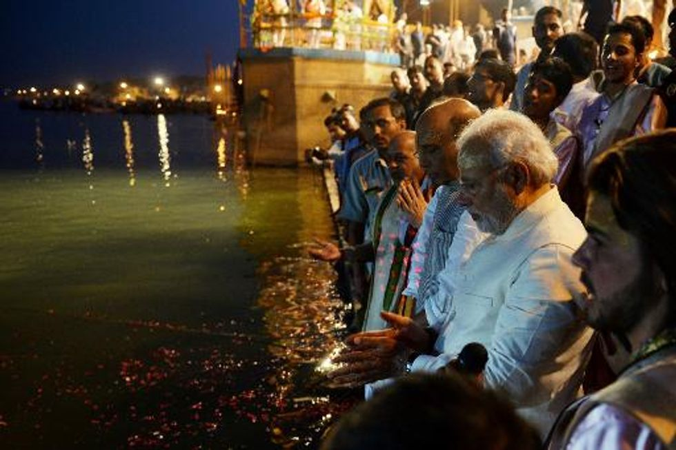 India's new PM Narendra Modi vows to clean up Ganges River