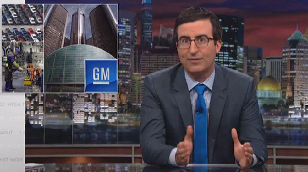 WATCH: John Oliver dismantles General Motors' outrageous banned words list