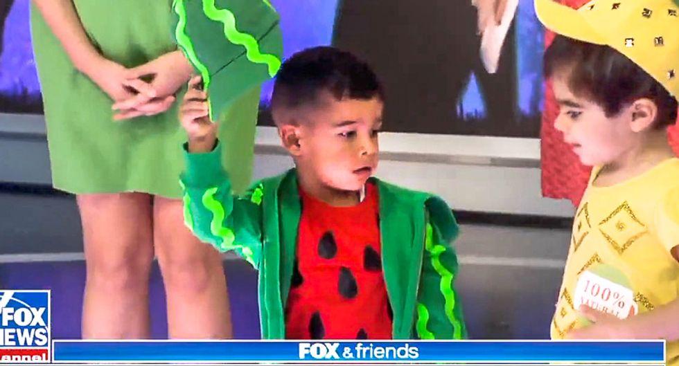 'Lucas is our watermelon': Fox & Friends dresses up black child as watermelon for Halloween segment