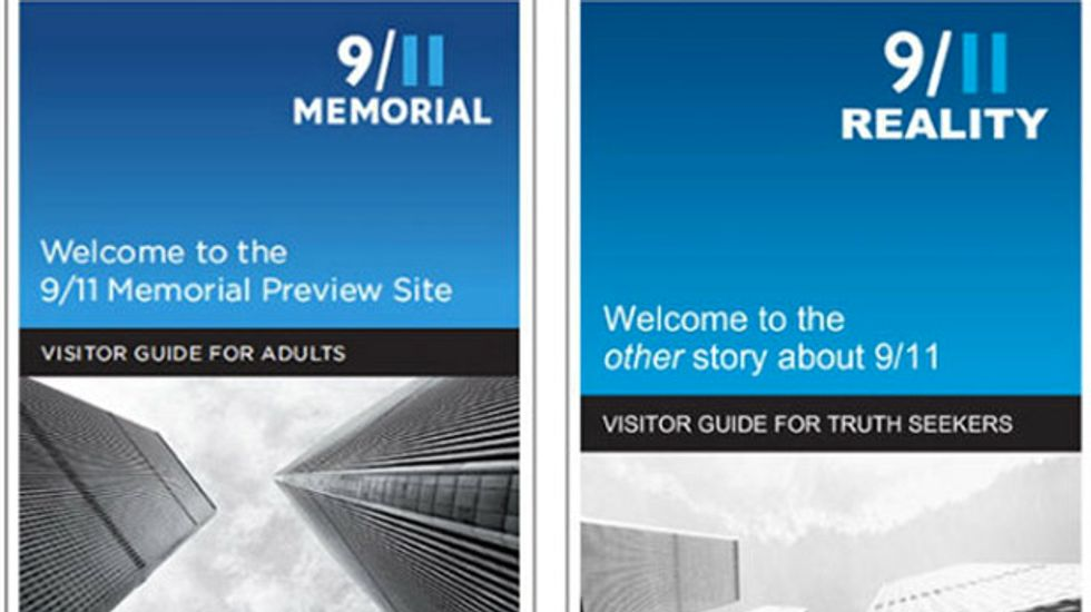 Truthers produce deceptive look-alike brochure for 9/11 Memorial Museum opening