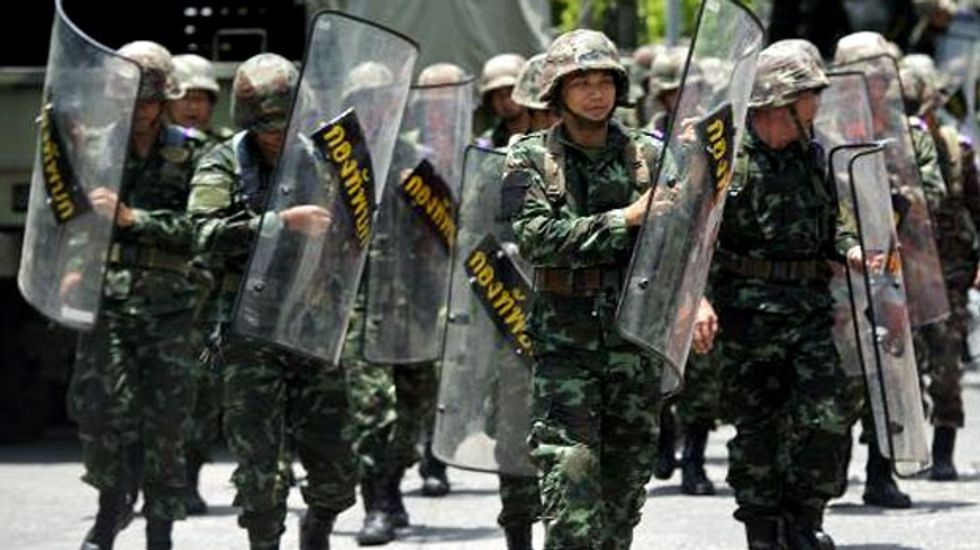 Troops flood the streets of Thailand as martial law creeps into force