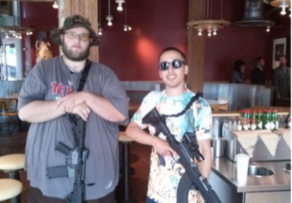 Burritos and assault rifles don't mix, a nervous Chipotle suggests after Texas stunt