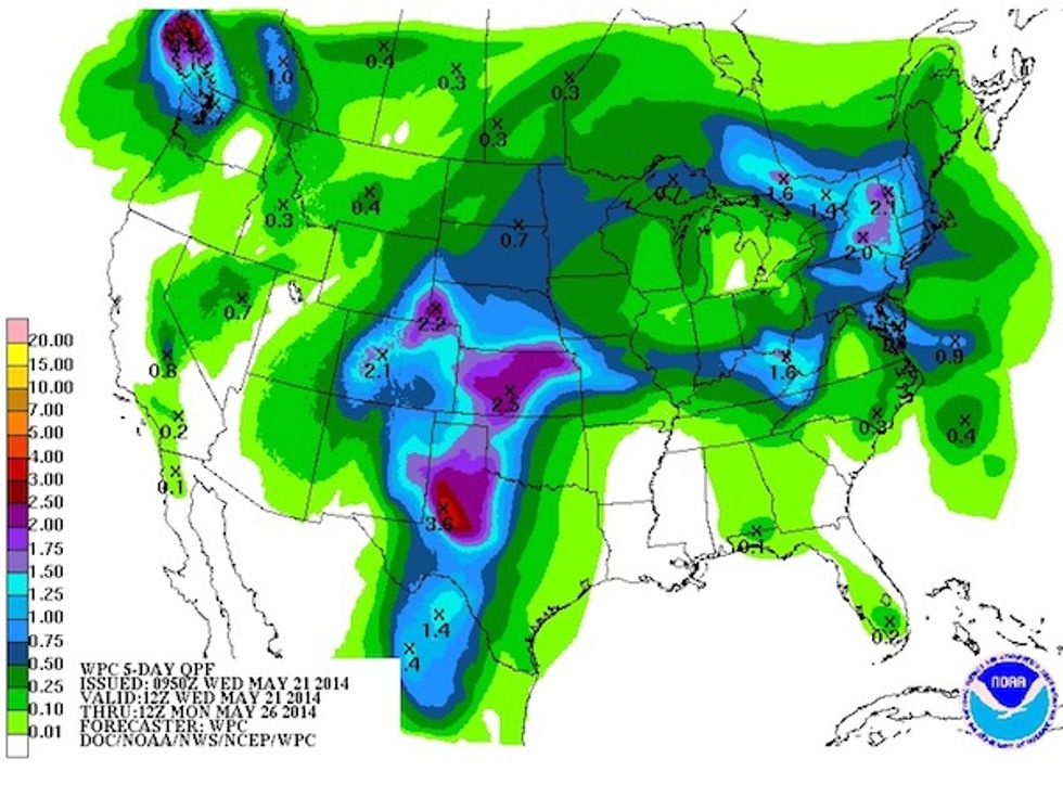 The rains in the Southern Plains won't make many gains -- for the drought