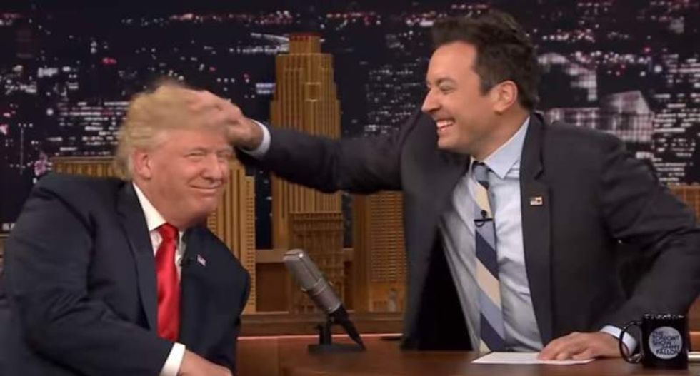 Spare us your sober monologue about Trump and Charlottesville, Jimmy Fallon