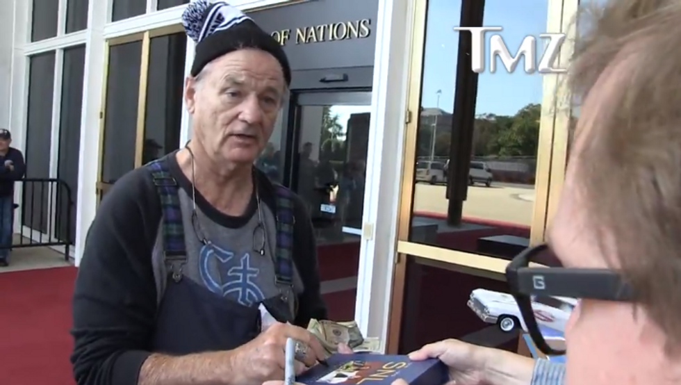'Go get a job': Bill Murray brutally rejects man who tried make a paltry $3 donation to Puerto Rico