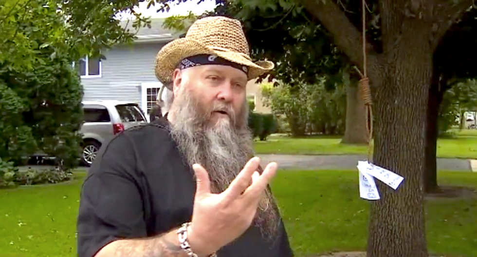 Minnesota man hangs noose to scare away thieves swiping his Trump signs — but he's 'far from racist'
