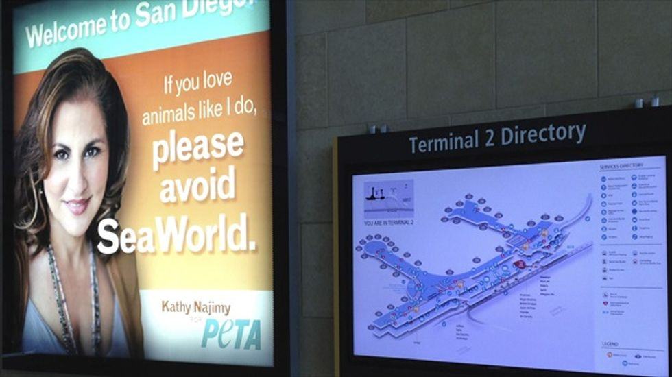 PETA allowed to post anti-Sea World billboard at San Diego airport