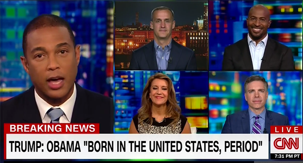 CNN shuts down panel when Corey Lewandowski has a meltdown blaming Clinton for birtherism
