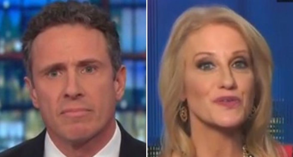 Kellyanne Conway short-circuits as CNN's Chris Cuomo starts stating facts about impeachment trial