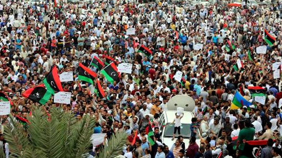 Thousands rally in support of rogue Libyan general Khalifa Haftar