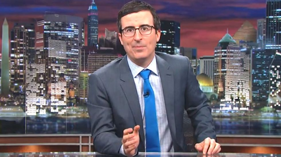 WATCH: John Oliver predicts what happened this week so he can have Memorial Day off
