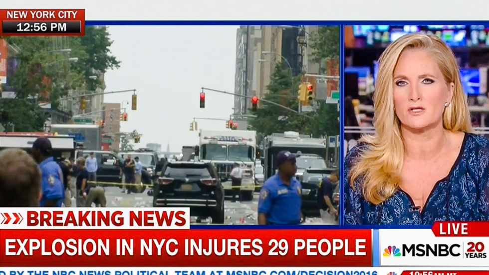 What? MSNBC host covering NYC blast says 'speculation helps get us through these times'