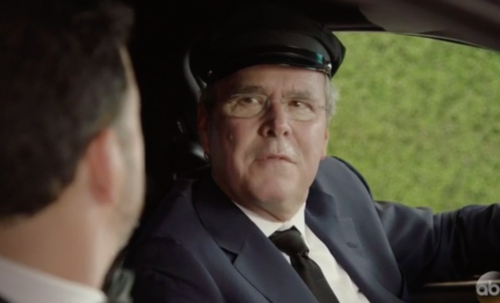Jeb Bush makes hilarious Emmys cameo as Jimmy Kimmel's bitter Uber driver