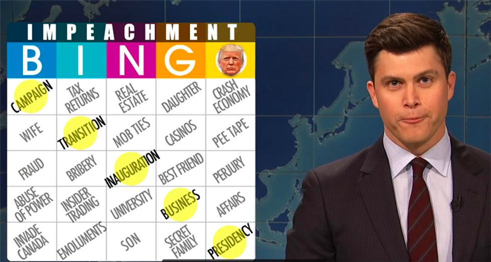 SNL's 'Weekend Update' scorches Trump with hilarious 'Impeachment Bingo' game