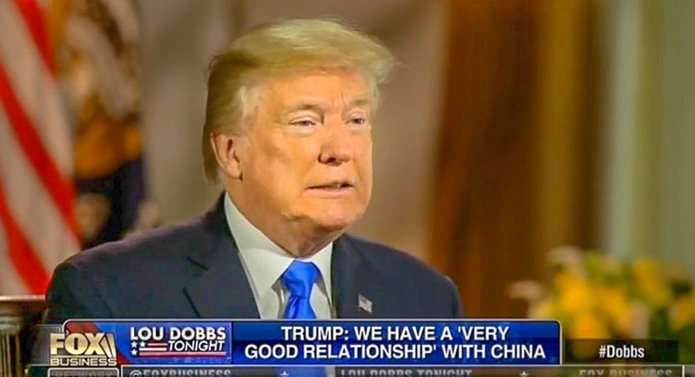 Donald Trump: I have 'best relationship' with China's leader 'because he's called president also'