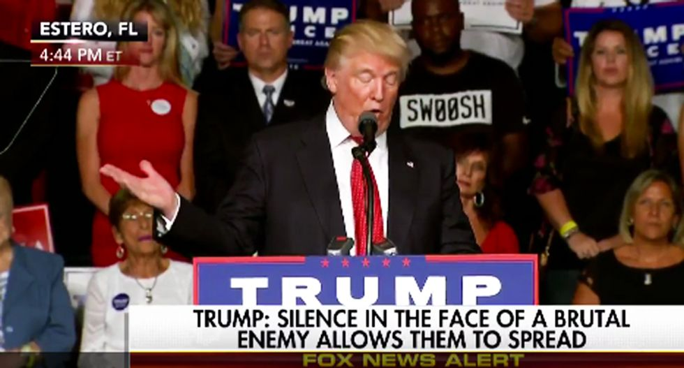 Trump uses lyrics from 'The Snake' in bonkers speech to rip immigrants -- and the Internet shreds him