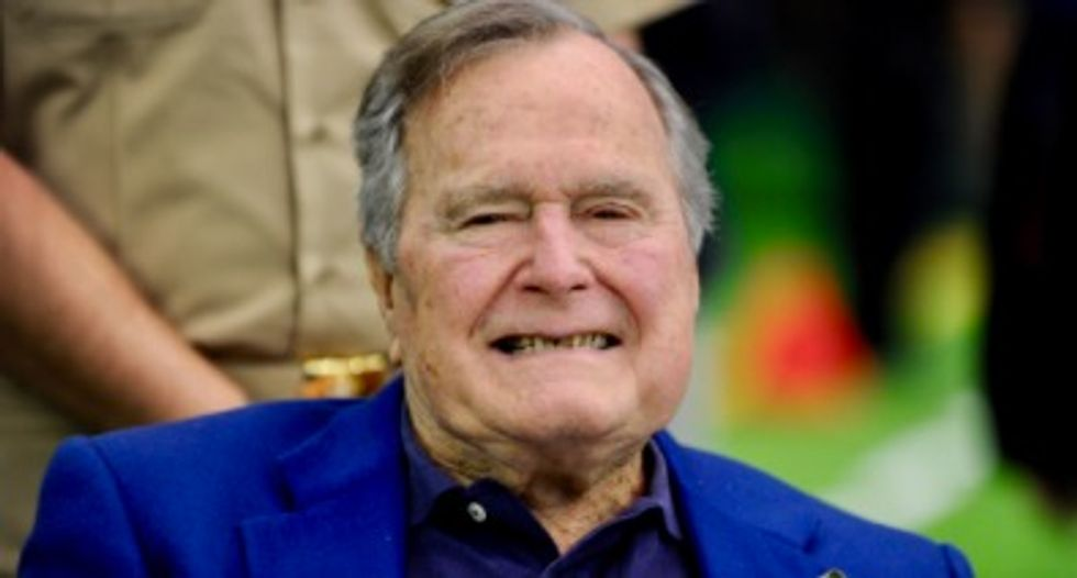 """George H.W. Bush apologizes to """"anyone he has offended"""" as a second actress comes forward"""