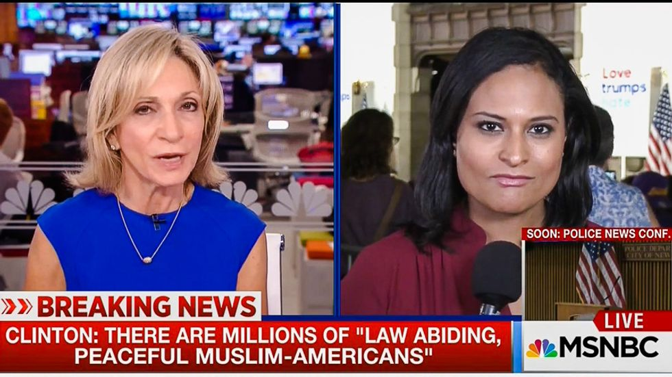 Twitter explodes at Andrea Mitchell for declaring Trump 'tough' on terror but Clinton 'off message'