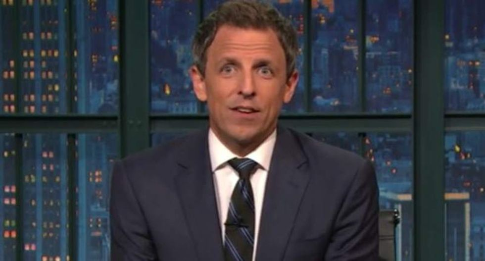 Seth Meyers skewers birther Trump: The guy with 'fake hair and fake tan' doesn't get to say what's real