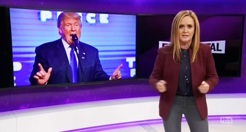 Sam Bee: You can't scare NY with a dumpster bomb after we lived through the Trump dumpster fire