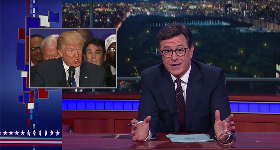 Stephen Colbert hilariously shreds Trump's birther lies: 'We're not crazy — we were there'