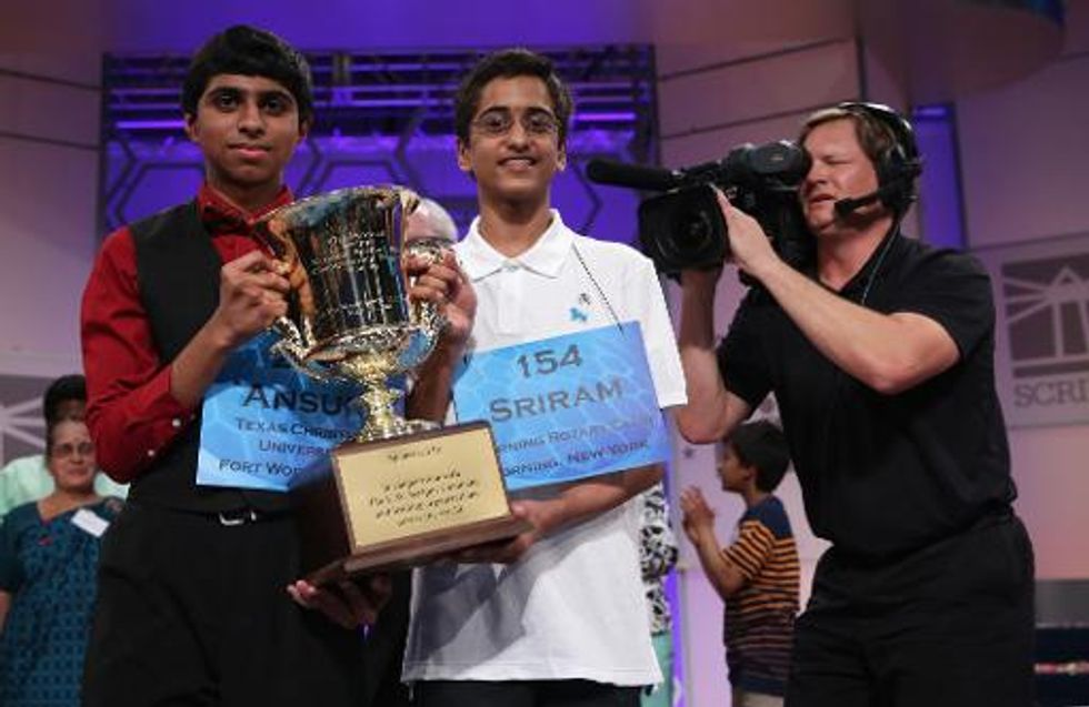 Two teenagers of South Asian heritage share Scripps National Spelling Bee title