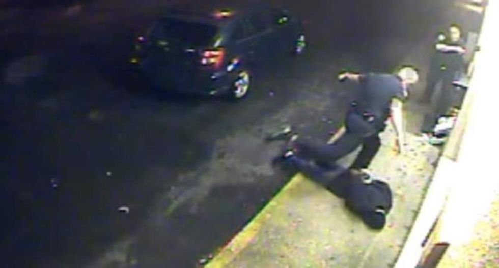 Louisiana cop arrested after he's filmed kicking handcuffed suspect