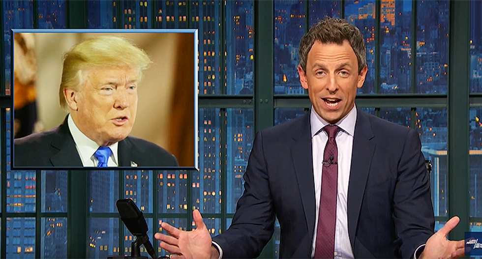 Seth Meyers drags Trump for ignoring advisers' warnings in call to Putin: 'All-caps is his native tongue!'