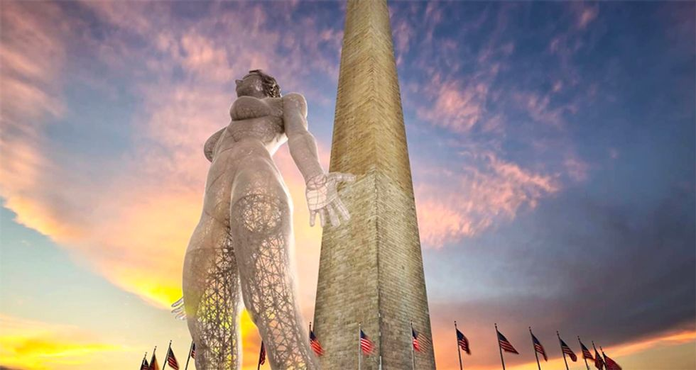 US Park Service withdraws approval of 45-foot nude statue of a woman on National Mall