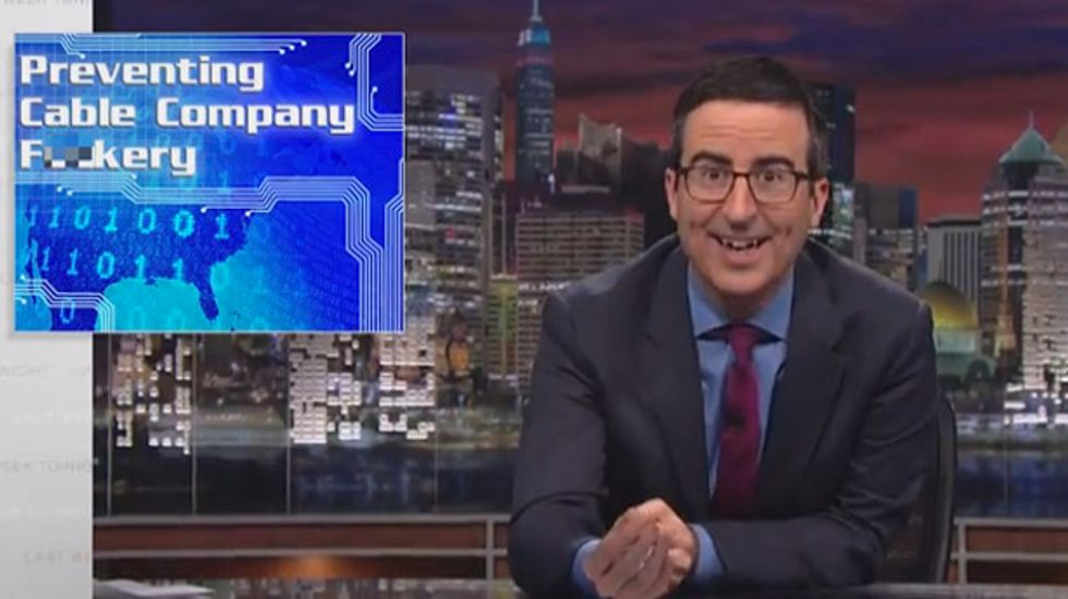 John Oliver: 'Cable company f*ckery' is going to ruin your Internet