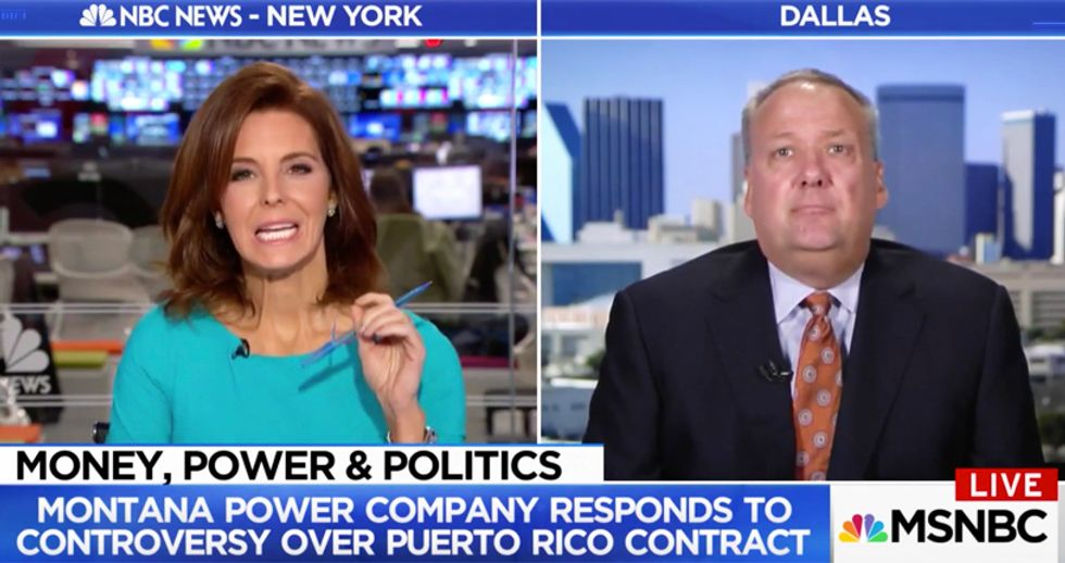 MSNBC's Stephanie Ruhle pummels Whitefish Energy spokesperson over sketchy Puerto Rico contract