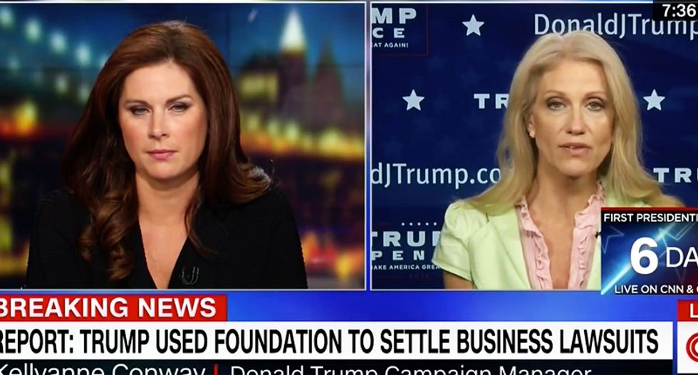 'There are many lawsuits!': Kellyanne Conway ducks charge Trump used charity money for legal problems