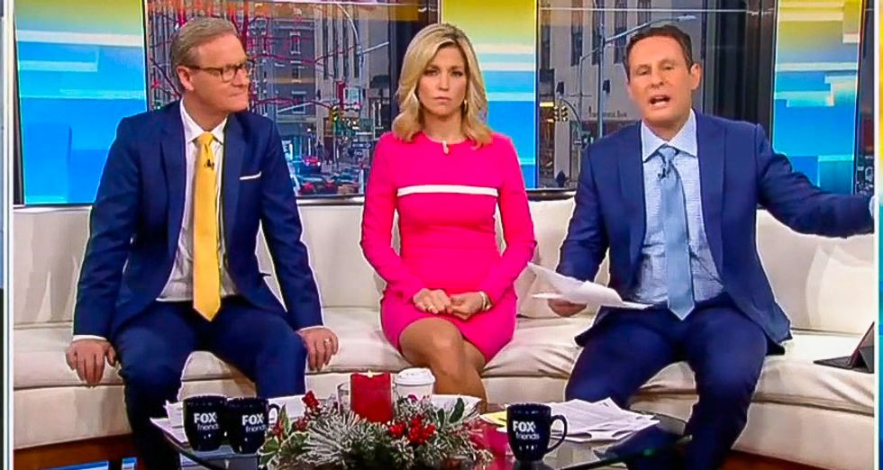 'So insulting!' Fox & Friends cries bitter tears after Mazie Hirono calls Trump a 'grifter president'