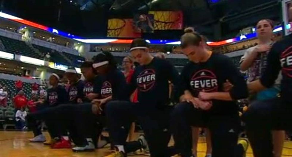 WATCH: Entire WNBA team joins Kaepernick protest prior to playoff game