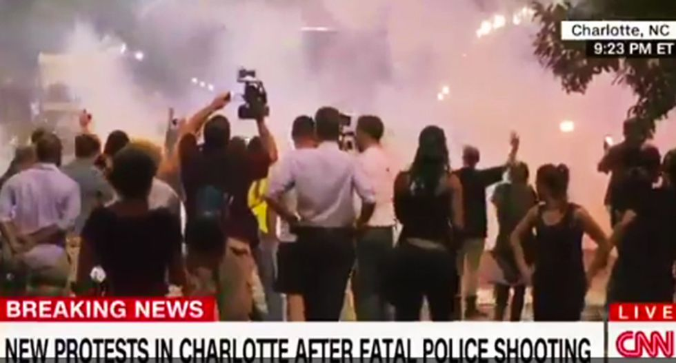 WATCH: CNN reporter slammed to the ground as Charlotte protest grows violent