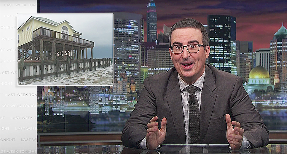 John Oliver wants the National Flood Insurance Program fixed since people are too stupid to move to safer ground