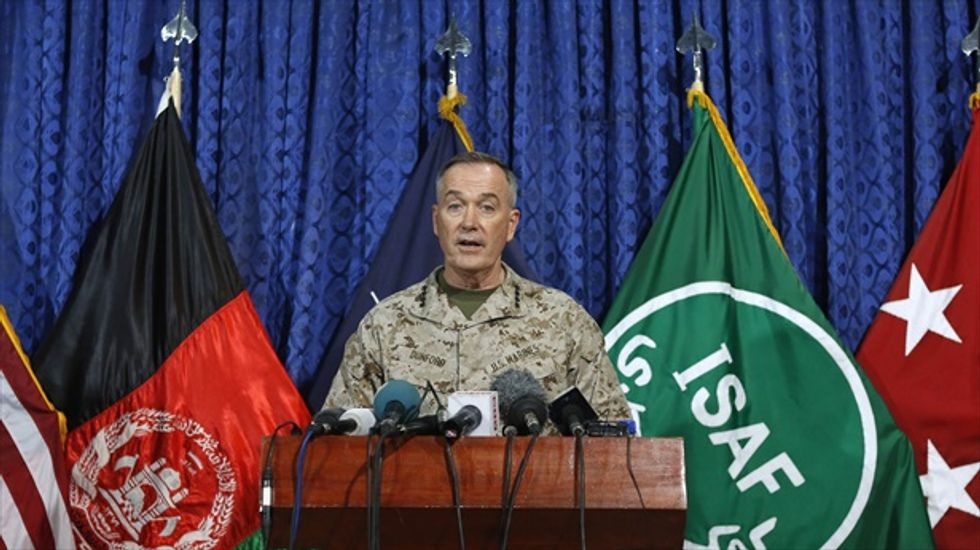 Obama nominates top U.S. general in Afghanistan to lead Marines