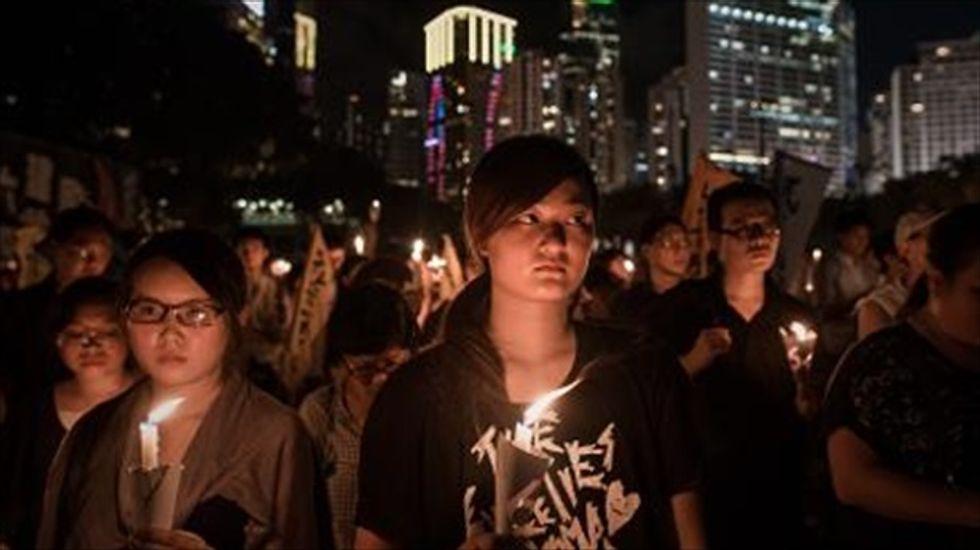 Thousands mark Tiananmen anniversary in Hong Kong as Beijing clamps down