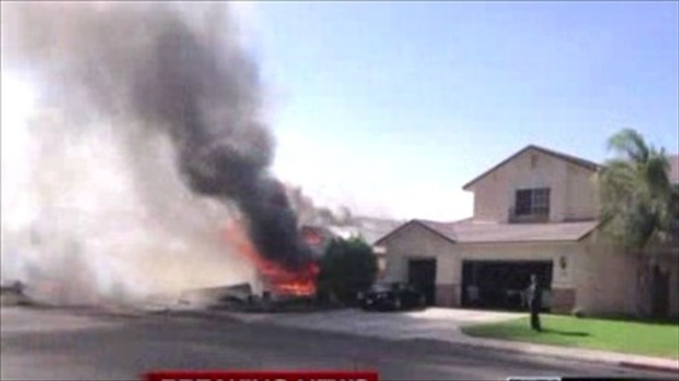 Military jet crashes in California residential community