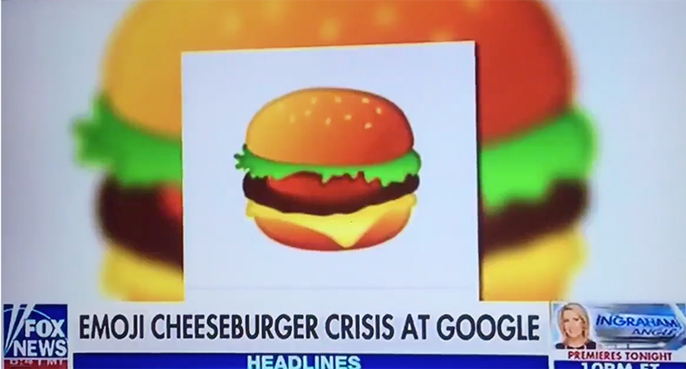 Internet hilariously mocks Fox News for covering cheeseburger emoji while Russia scandal blows up on Trump