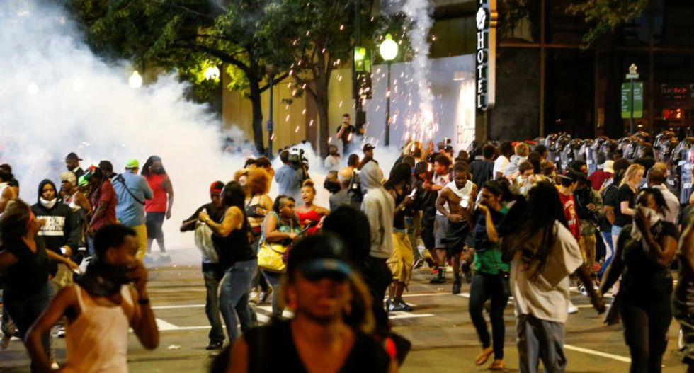 One person in critical condition as second night of Charlotte protests turns violent
