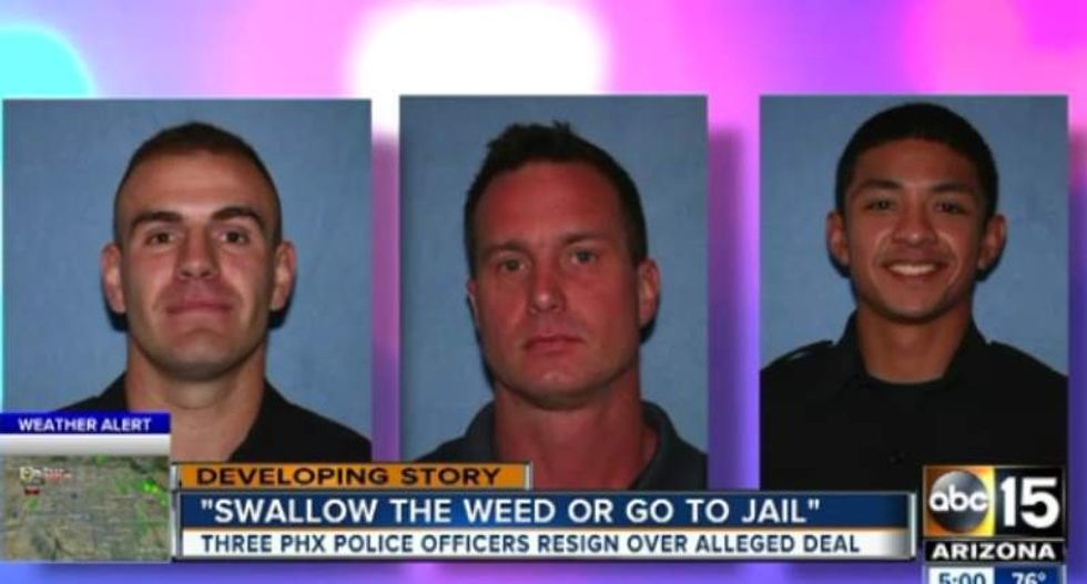 Rookie Phoenix cops quit after forcing motorist to eat marijuana during traffic stop