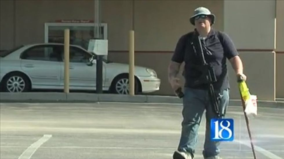 Indiana 'sovereign man' protests suspended driver's license by carrying rifle around town