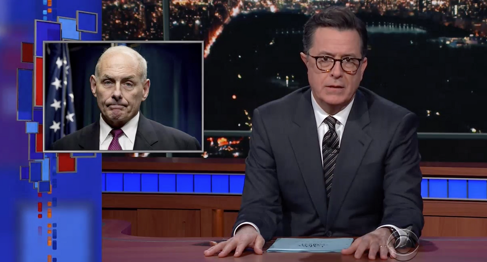 Colbert torches Kelly's 'willfully ignorant' Civil War remark: 'He's forced to defend the positions of an idiot'